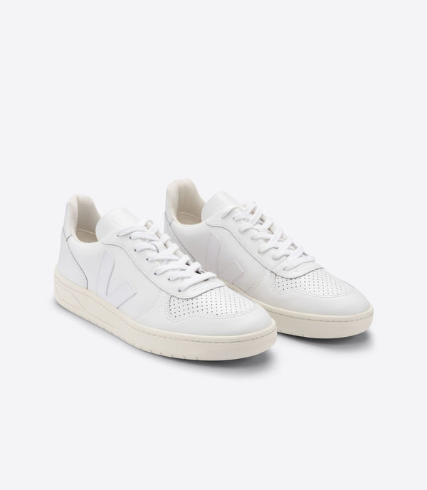 BASKET VEJA V10 LEATHER EXTRA WHITE