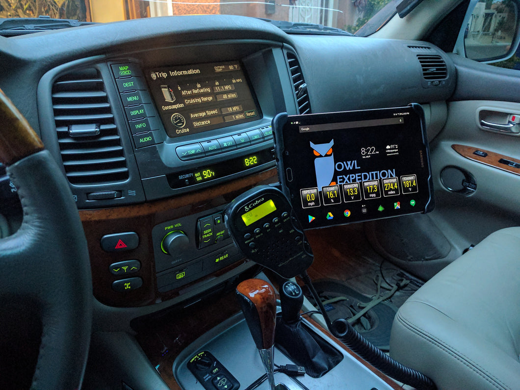 Media Mount (1998-2007 LX470/Land Cruiser and GX470) with NAV