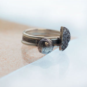 Small Moonrock Ring - Silver