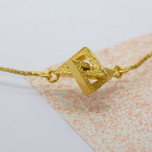Load image into Gallery viewer, Space Invader Necklace - Gold plated