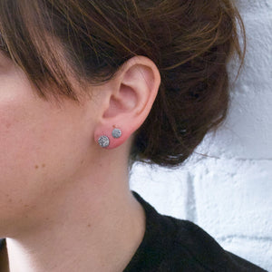 Full Moon Studs - Silver (Small)