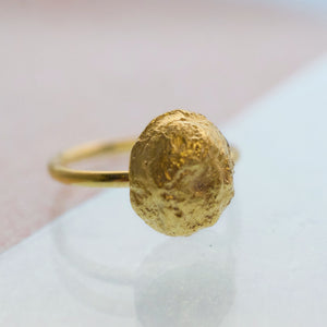 Large Moonrock Ring - Gold plated