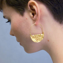 Load image into Gallery viewer, Half Moon Hoops Large - Gold Plated