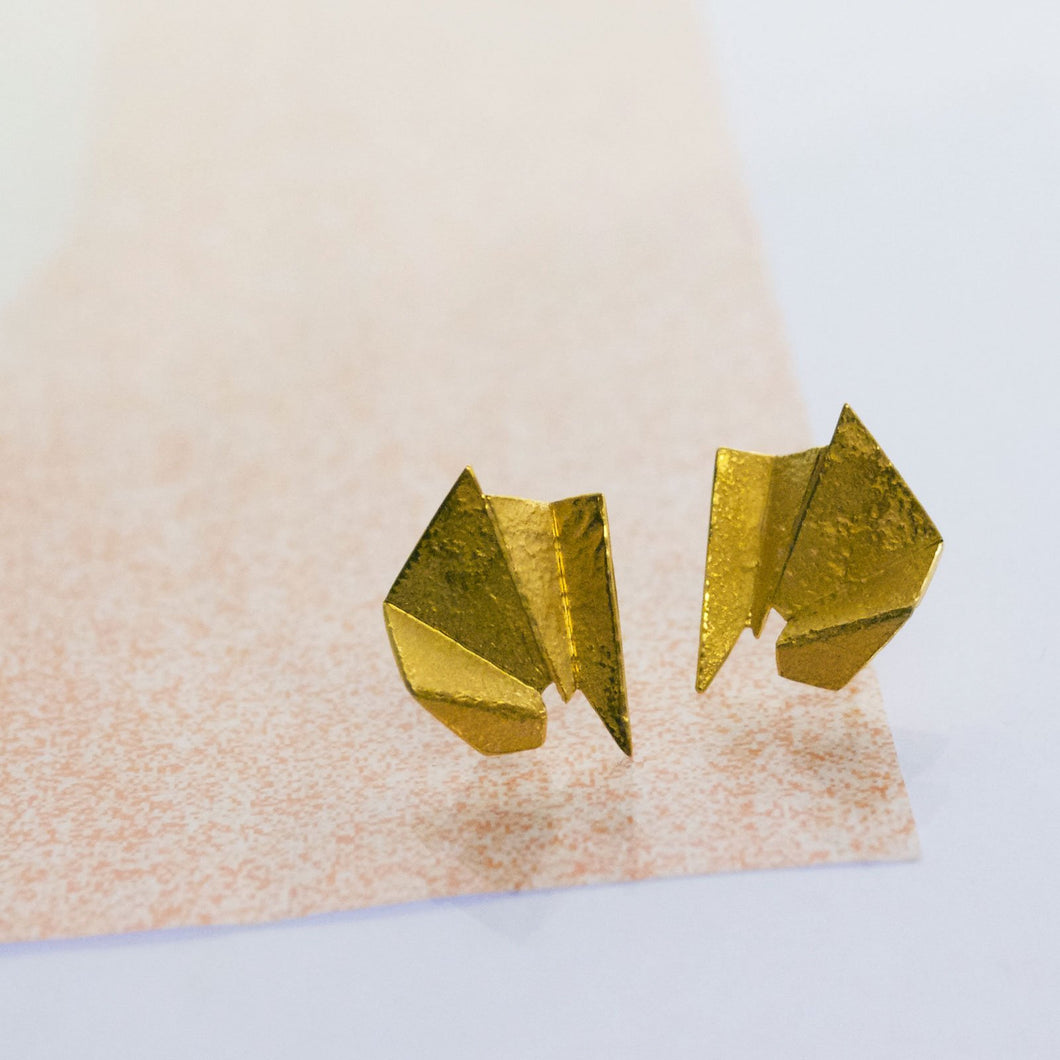 Meteor Earrings - Gold Plated