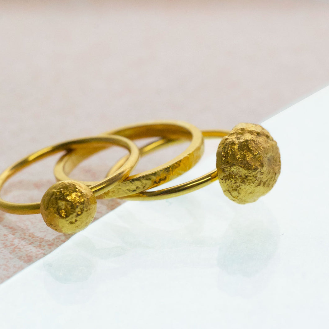 Stakis Ring - Gold plated