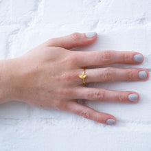 Load image into Gallery viewer, Half Moon Ring - Gold plated
