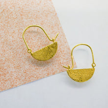 Load image into Gallery viewer, Half Moon Hoops - Gold Plated
