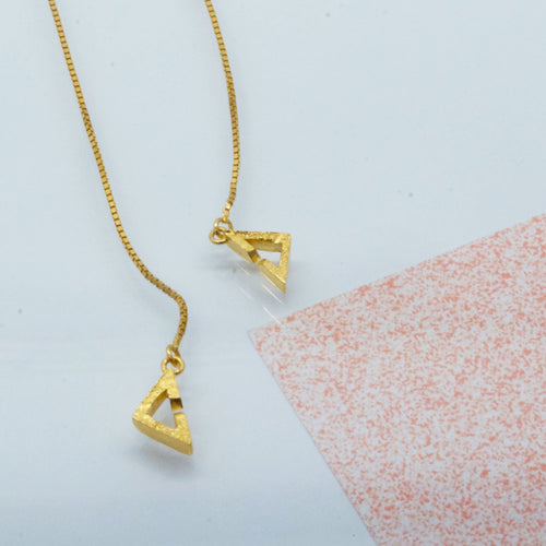 Space Invader Necklace - Gold plated