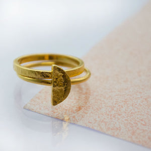 Half Moon Ring - Gold plated