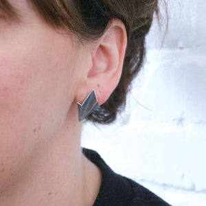 Leaf Earrings - Silver