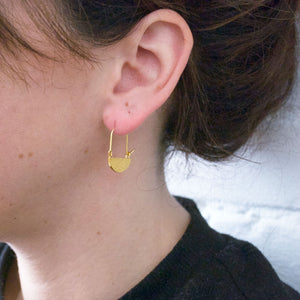 Half Moon Hoops - Gold Plated