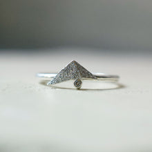 Load image into Gallery viewer, Fraction ring (oxidised silver)