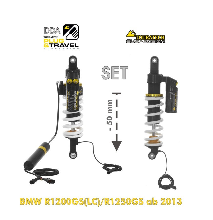 Touratech Suspension-Set Plug & Travel -50 mm lowering for BMW R1200GS(LC)/R1250GS from 2013