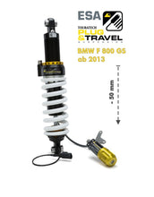 Touratech Suspension, lowering by -50mm for BMW F800GS from 2013 Type: Plug & Travel for BMW ESA