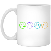 UFO CHRONICLES PODCAST Symbols White Mug
