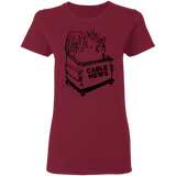 Dumpster Fire Women's Tee - Cable News