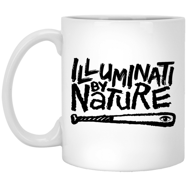 Illuminati By Nature White Mug