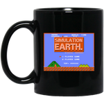 Simulation Earth Black Mug