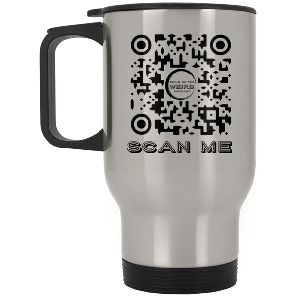 Bring On The Weird Scan Me Stainless Travel Mug