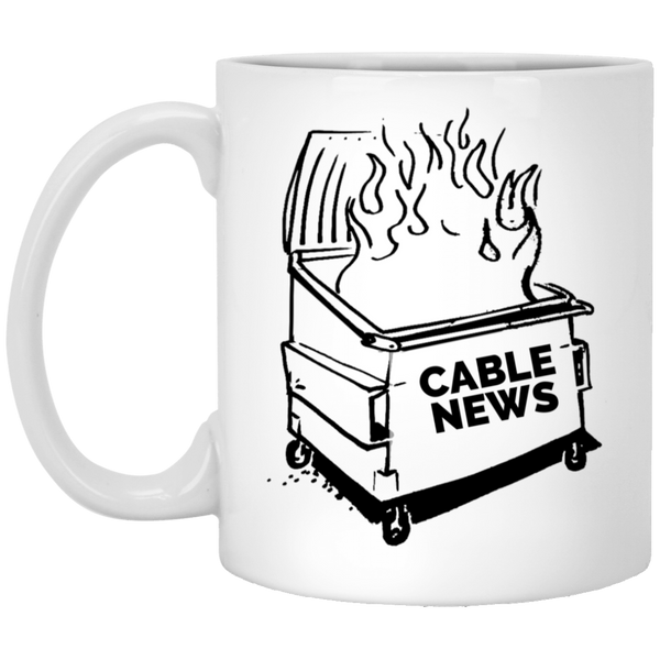 Dumpster Fire 11 oz. Mug  - Cable News