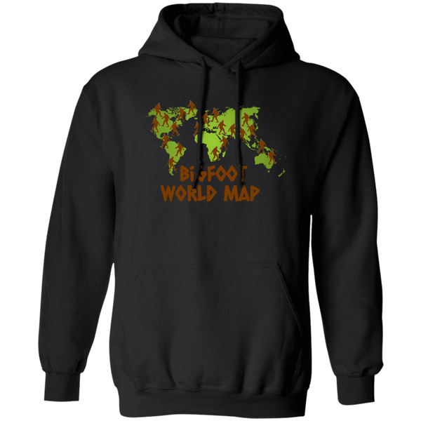 Bigfoot World Map Hoodie