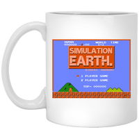 Simulation Earth White Mug