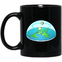 Flat Earth Black Mug