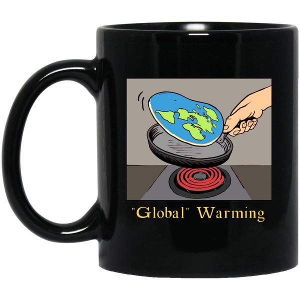 """Global"" Warming Black Mug"