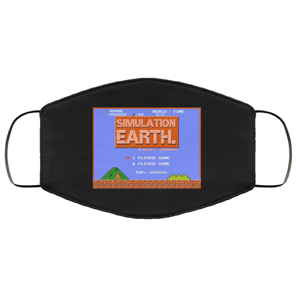 Simulation Earth Face Mask