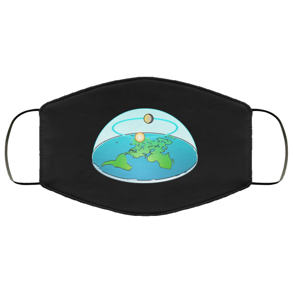 Flat Earth Face Mask