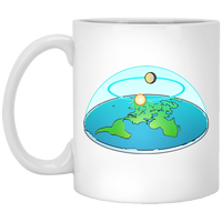 Flat Earth White Mug