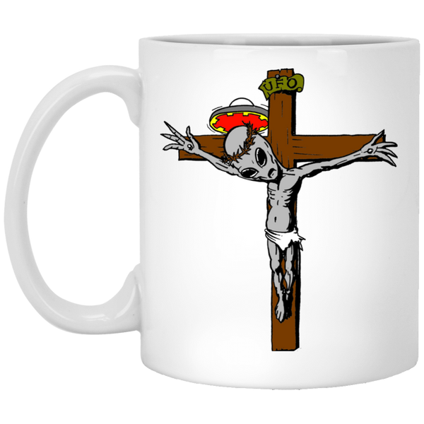 Jesus Was An Alien V3 White Mug
