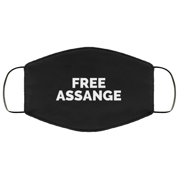 Free Assange Face Mask