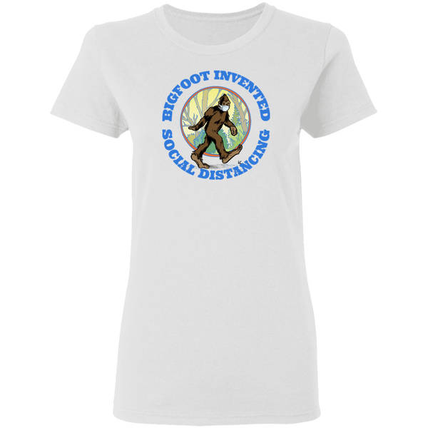 Bigfoot Invented Social Distancing Women's Tee