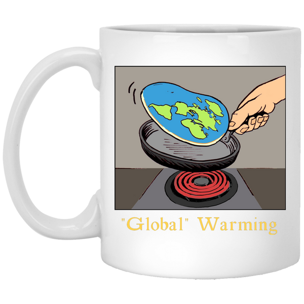"""Global"" Warming White Mug"