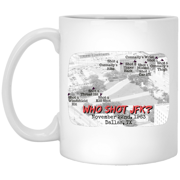 Who Shot JFK? White Mug
