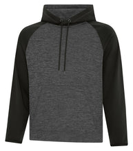 DYNAMIC HEATHER FLEECE TWO TONE HOODED SWEATSHIRT