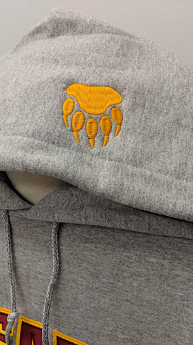 Bear Paw Embroidered on Hood