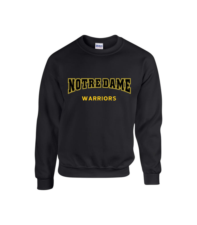 NOTRE DAME Crewneck Sweatshirt BLACK or GREY