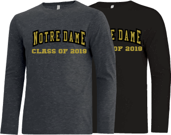 NOTRE DAME CLASS OF 2019 Long Sleeved T-Shirt