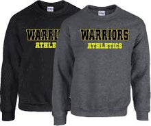 WARRIORS Crewneck Sweatshirt BLACK or GREY