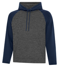 KINGS New Logo Embroidered FLEECE TWO TONE HOODED SWEATSHIRT Grey/Navy