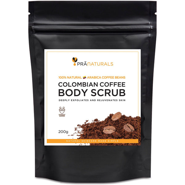 PraNaturals Colombian Coffee Beans Natural Body Scrub Anti-Cellulite 200g