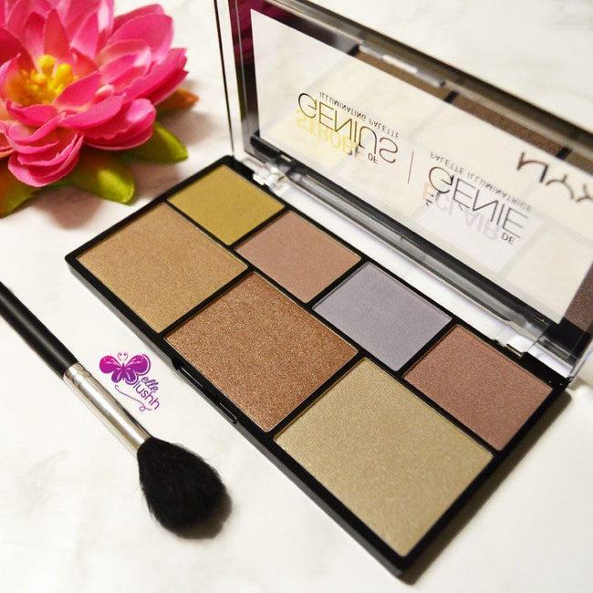 NYX Strobe of Genius Illuminating Highlighting palette 01