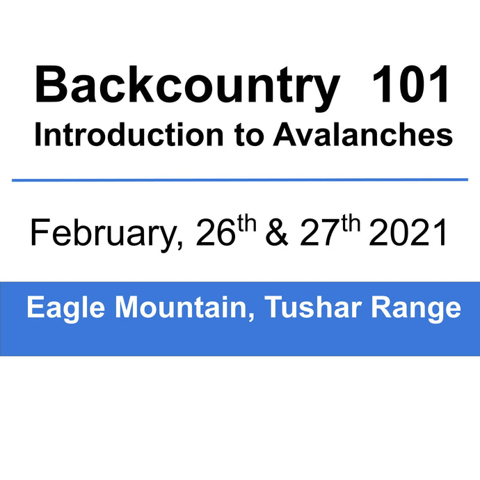 Backcountry 101 - Tushar Range- February  26th & 27th, 2021