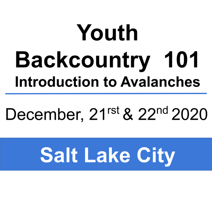 Youth Backcountry 101- December 21 & 22, 2020