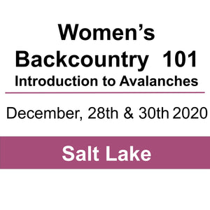 Women's Backcountry 101- December 28th & 30th, 2020