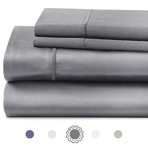 "Hyde Lane 1000TC Cotton Sheet Set| 4 Piece - Fitted, Flat Sheet & Shams | Stretches Up to 16"" to Easily Cover Large Bed Sizes 