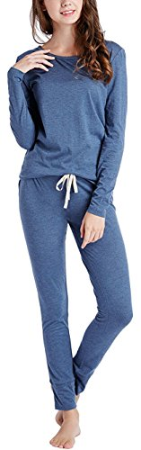 INK+IVY Winter Pajamas for Women, Thermal Underwear Set with Picot Trim Top & Leggings
