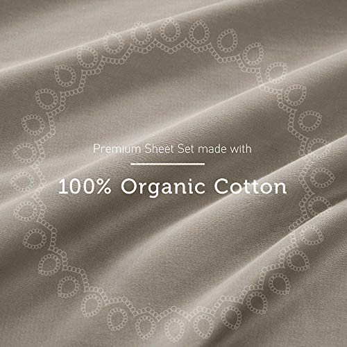 "Hyde Lane 400TC Cotton Fitted Sheet| Stretches Up to 10-14"" to Easily Cover Most Bed Sizes- Retains Elasticity 